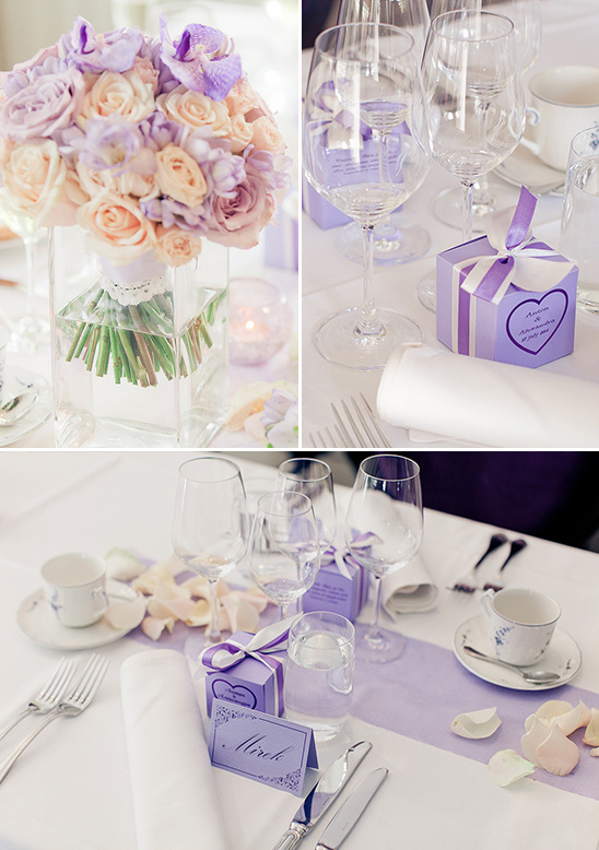 soft purple wedding decor @weddingchicks