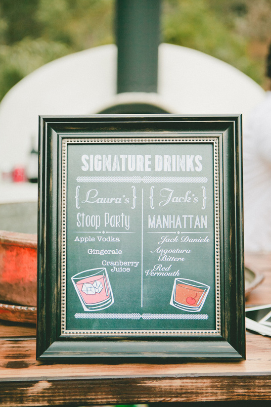 signature cocktails @weddingchicks