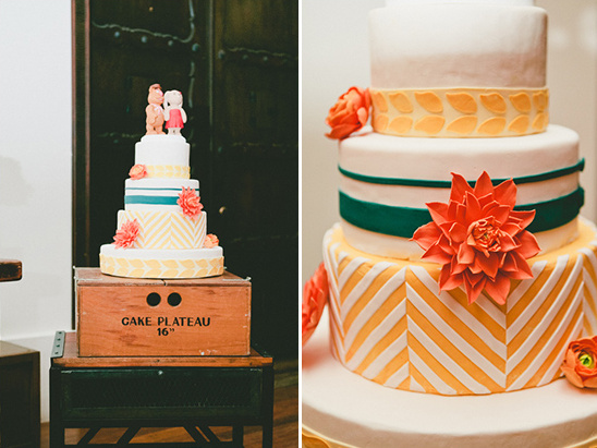 funky and fun wedding cake @weddingchicks