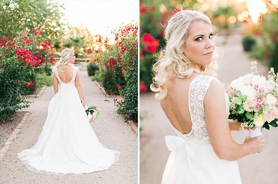 back showcasing wedding dress from Allure Bridals @weddingchicks