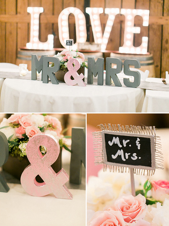 Mr. Mrs Table @weddingchicks