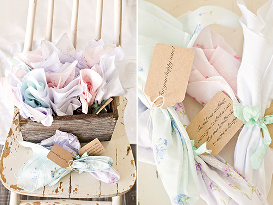 wedding handkerchiefs @weddingchicks