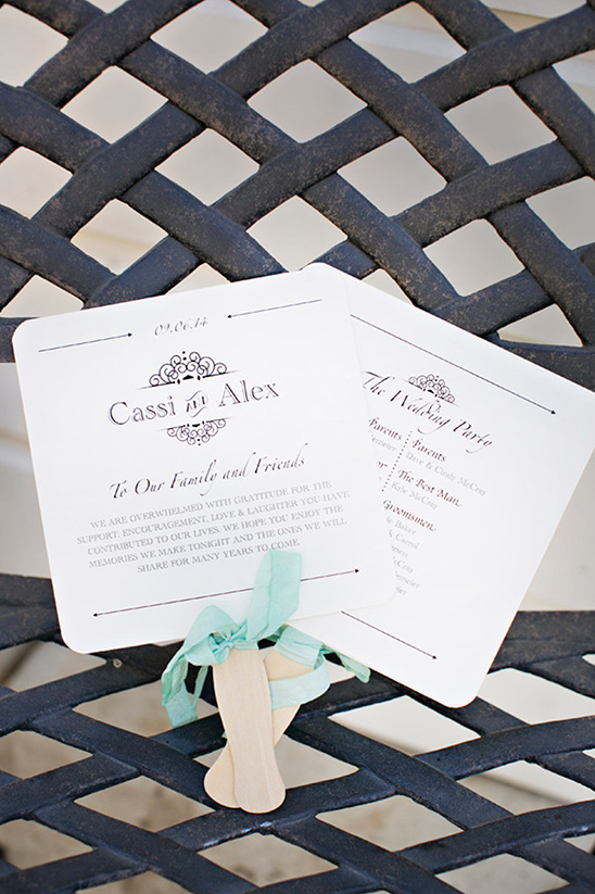 wedding fan programs @weddingchicks