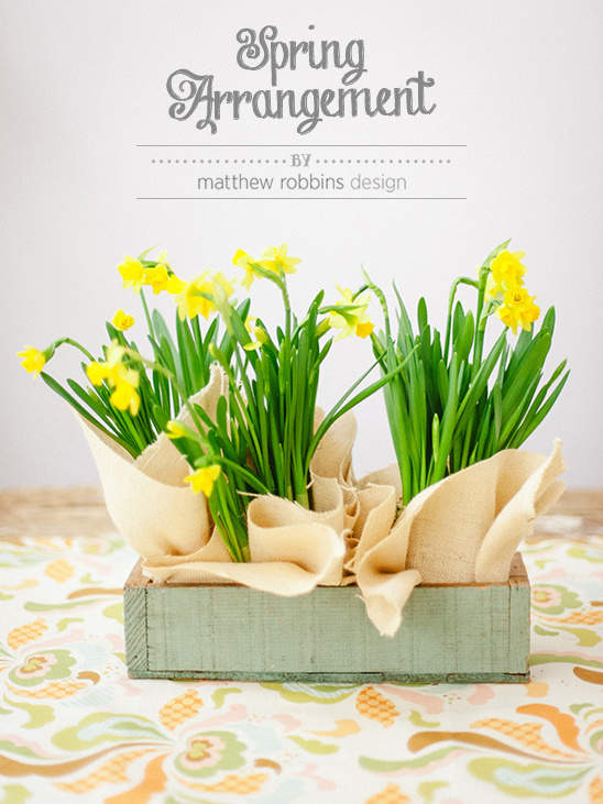 Easy Spring Arrangement From Matthew Robbins Design
