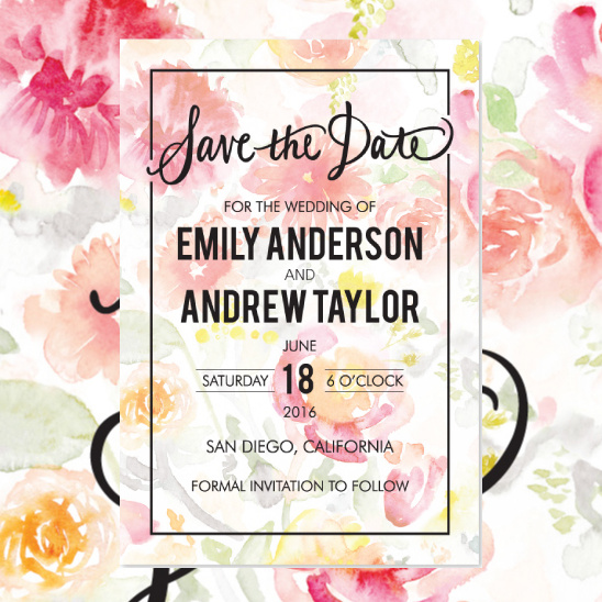 Save the Dates from B Wedding Invitations @weddingchicks