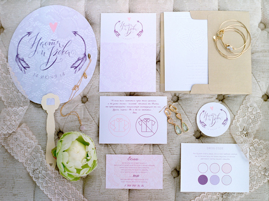 pink and purple stationery @weddingchicks