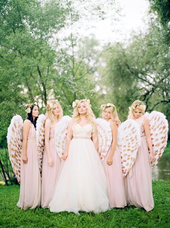 angelic bridal party @weddingchicks
