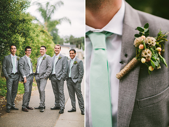 mint and grey groomsmen @weddingchicks