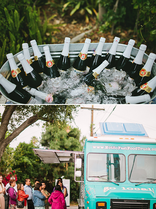 bubbly on ice and food truck dinner @weddingchicks