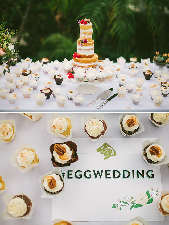 cupcake table and hashtag sign @weddingchicks