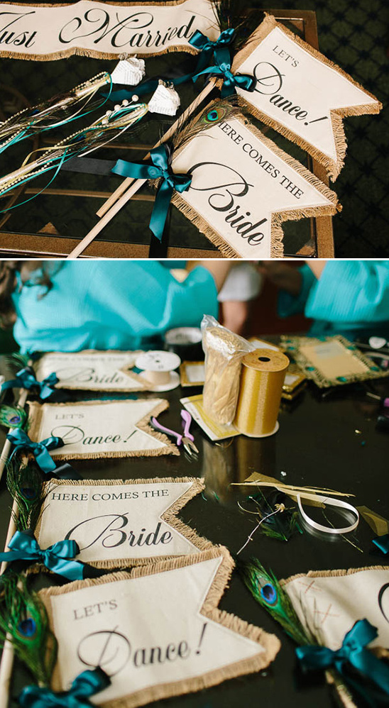 handmade wedding banners @weddingchicks