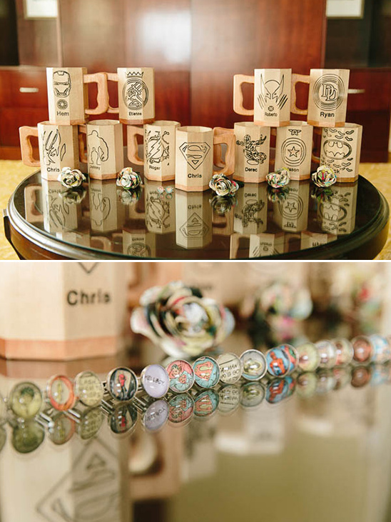 custom groomsmen mugs and cuff links @weddingchicks