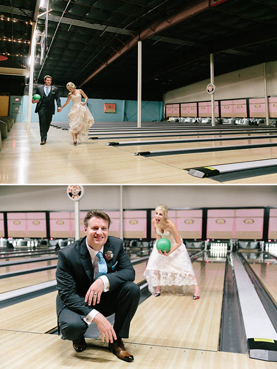 fun bowling alley photos @weddingchicks