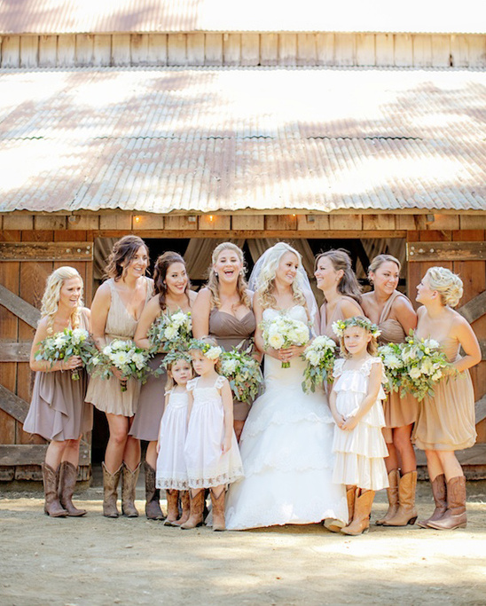 Assorted Tan Bridesmaid Dresses Weddingchicks