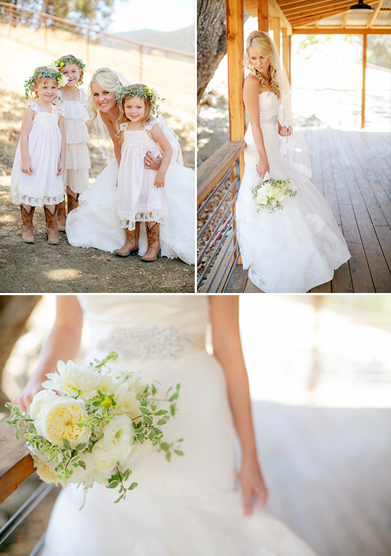rustic flower girl and classic bride @weddingchicks