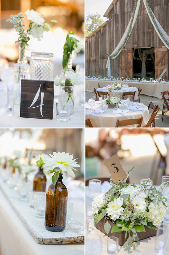 rustic and upcycled reception table decor @weddingchicks