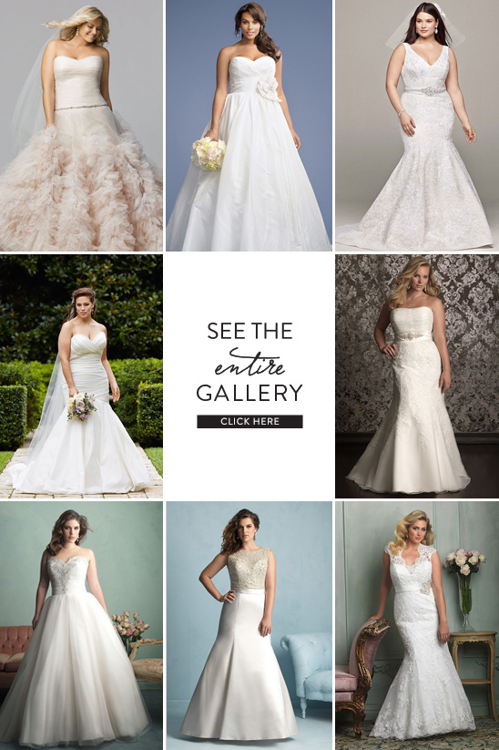 plus sized wedding gowns