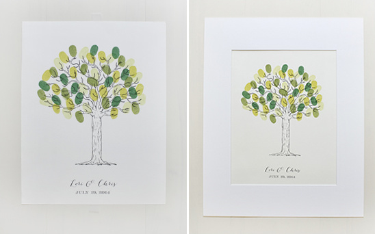 Free Thumbprint Wedding Guest Book