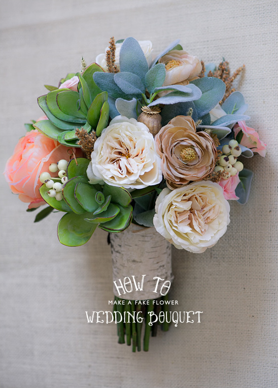 Wedding Flower Bouquets How To Make : How to make a fake flower bridal bouquet