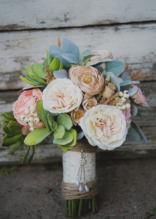 How To Make A Fake Flower Bridal Bouquet