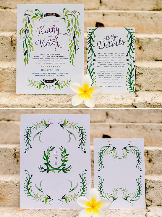 hand painted wedding invites @weddingchicks