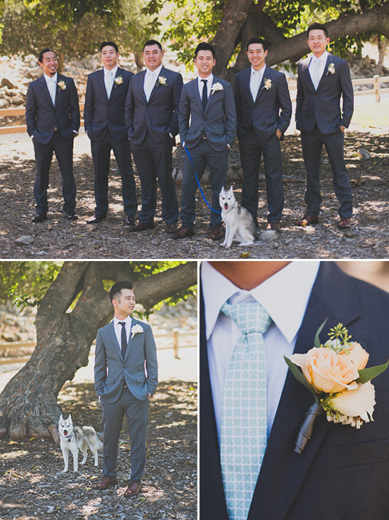Blue groomsman looks @weddingchicks