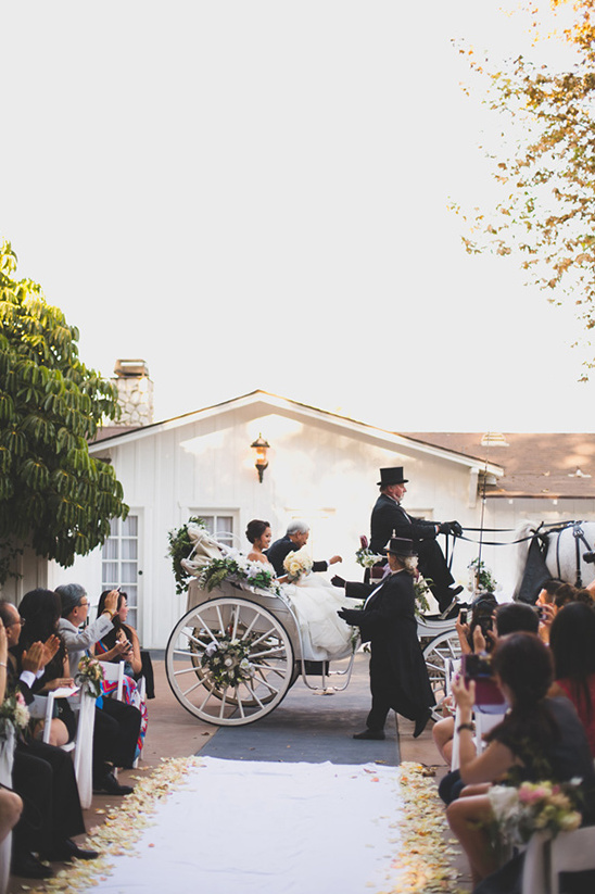 Arrive in a horse drawn carriage @weddingchicks