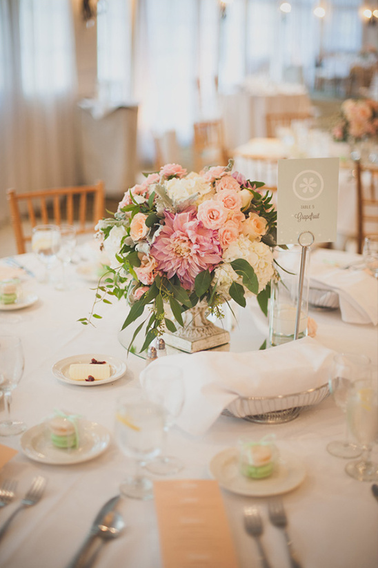 pink and peach wedding decor ideas