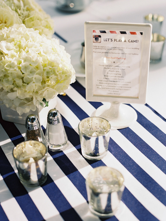 cute table number and instagram game @weddingchicks
