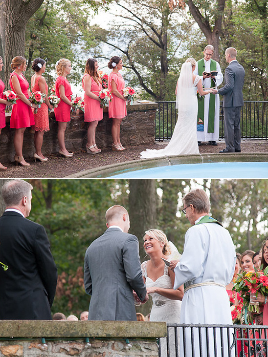 saying i do in front of a fountain @weddingchicks