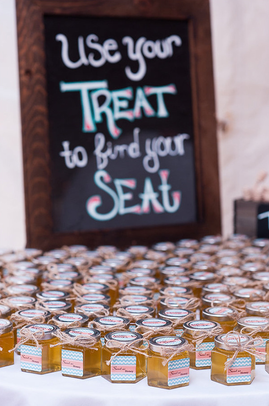 use favors as escort cards @weddingchicks