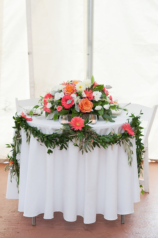 floral filled sweetheart table @weddingchicks