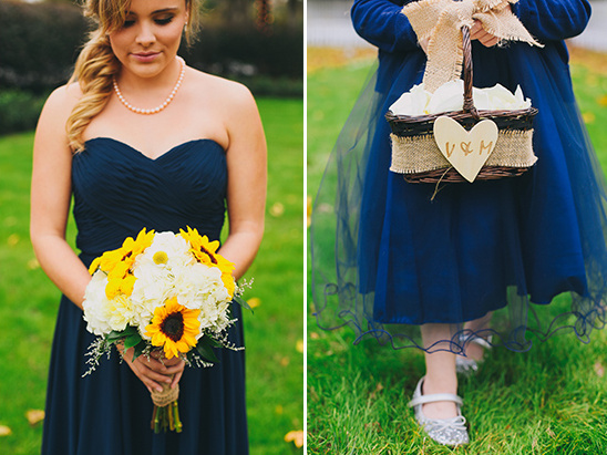 navy bridesmaid and flower girl @weddingchicks