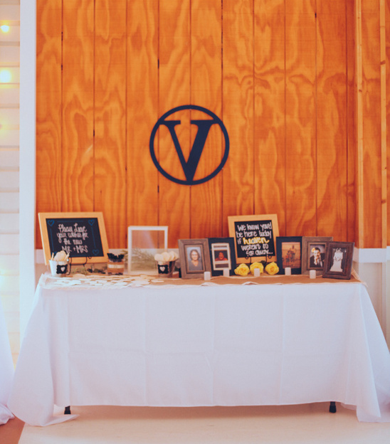photo display and wedding monogram @weddingchicks