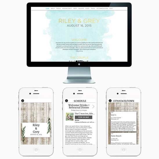 Luxury wedding websites from Riley & Grey. @weddingchicks