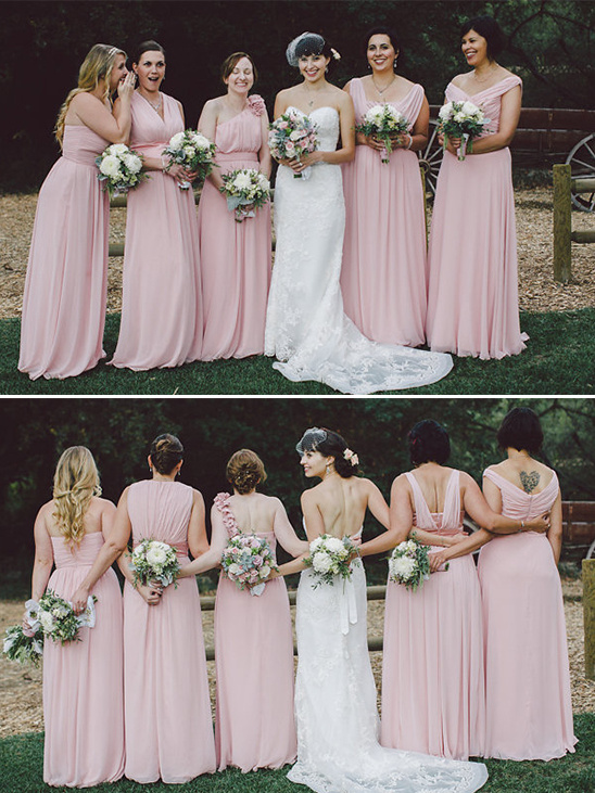 elegant pink wedding dresses