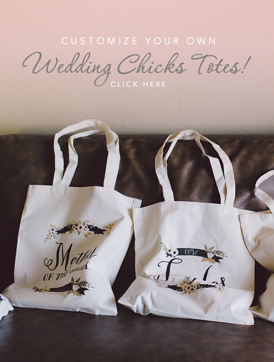 wedding chicks customizable totes @weddingchicks