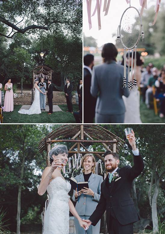dream catcher and beer ceremony @weddingchicks