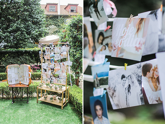 fun photo display @weddingchicks