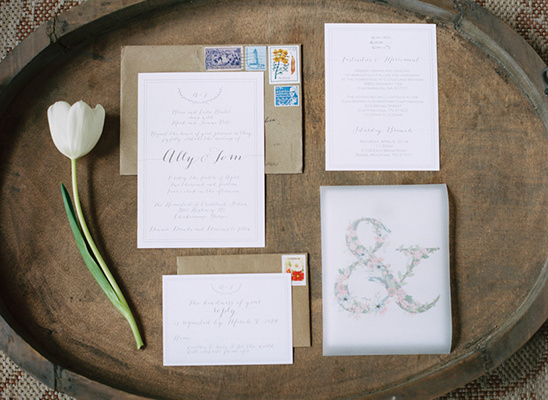soft neutral wedding stationery @weddingchicks