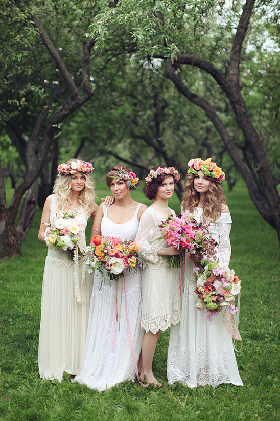 floral and vintage bridal inspiration