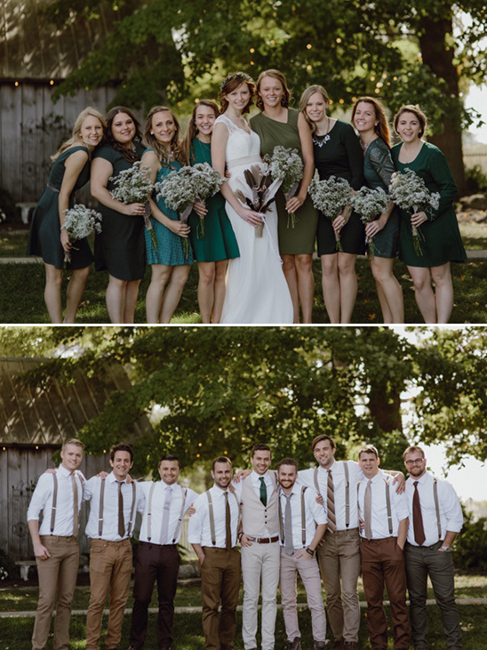 assorted bridesmaids and groomsmen looks @weddingchicks