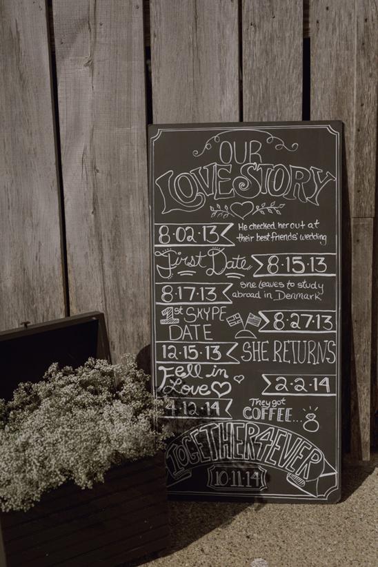 love story sign @weddingchicks