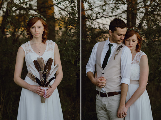rustic chic wedding couple @weddingchicks