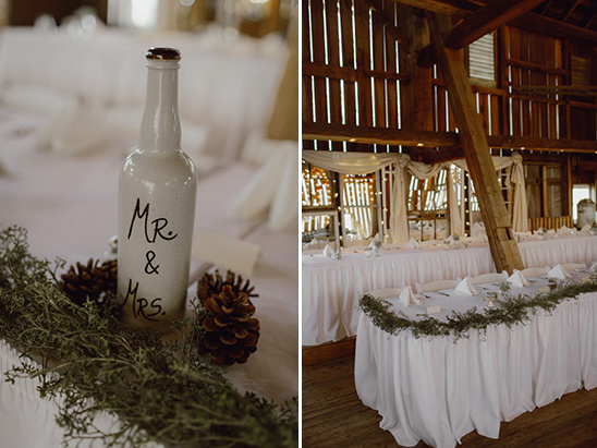 recycled bottle mr and mrs sign @weddingchicks