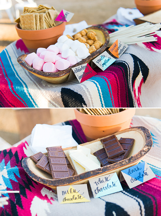 s'mores bar ideas @weddingchicks