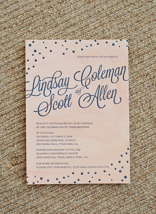 blush and navy wedding stationery @weddingchicks