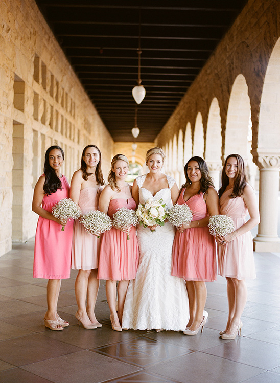 mix and match pink bridesmaid dresses @weddingchicks