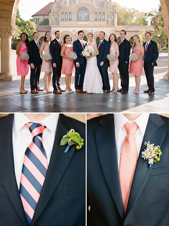 navy and peach groomsman ideas @weddingchicks