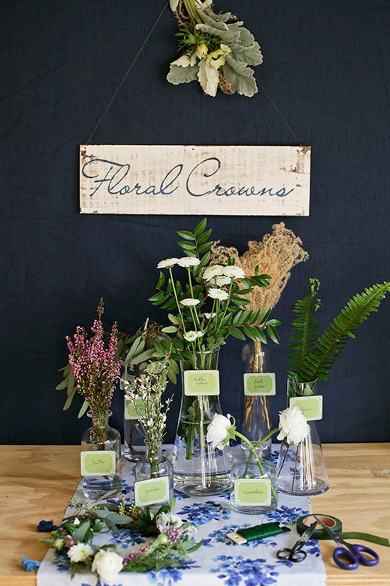 make your own floral crown bridal shower station @weddingchicks